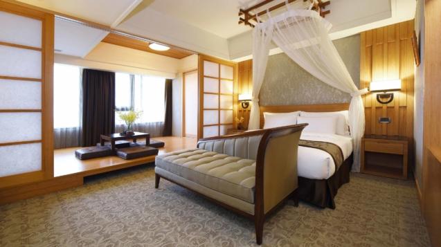 經典和洋客房打造台灣茶香水主題房(圖/福容花蓮店提供)