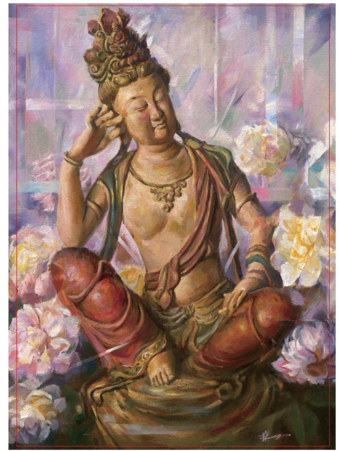 何栴芳融合東西創新詮 繪出千年古佛雕像